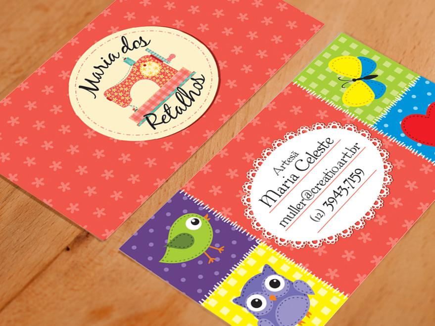 Populares Cartão de Visita Artesanato - Creatio Design FE19