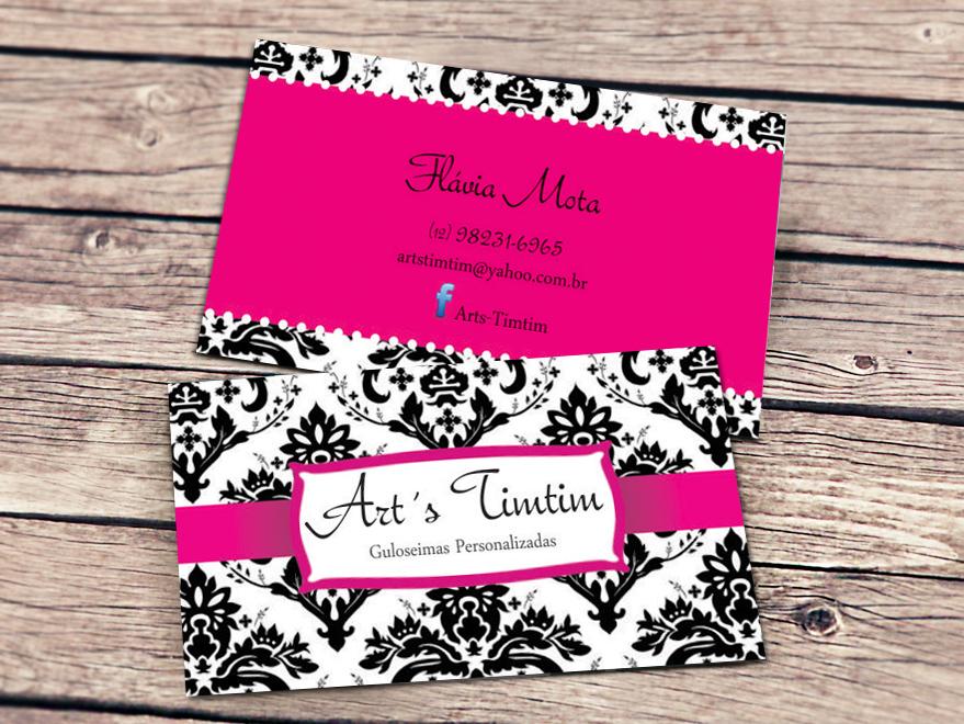 Excepcional Cartão de Visita Artesanato - Creatio Design LR23