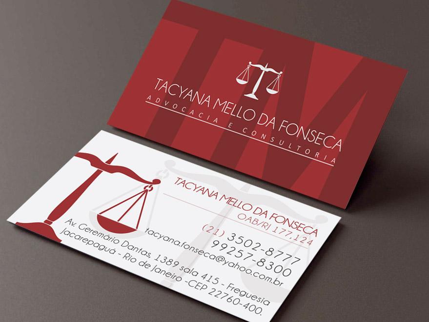 Famosos Cartão de Visita Advogado | Creatio Marketing Digital | São José  QH93